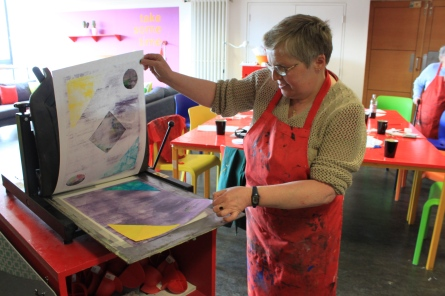 Dundee Blind and Partially Sighted Society Printmaking Workshop, Dundee Contemporary Arts, 2012