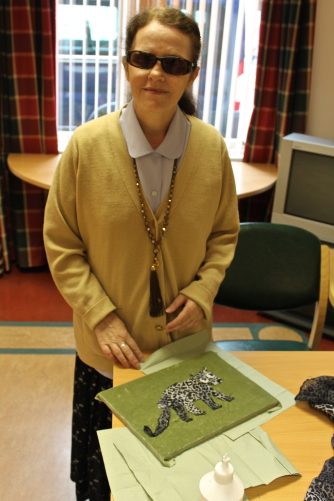 Tactile Painting Workshop, Dundee Blind and Partially Sighted Society, 2012